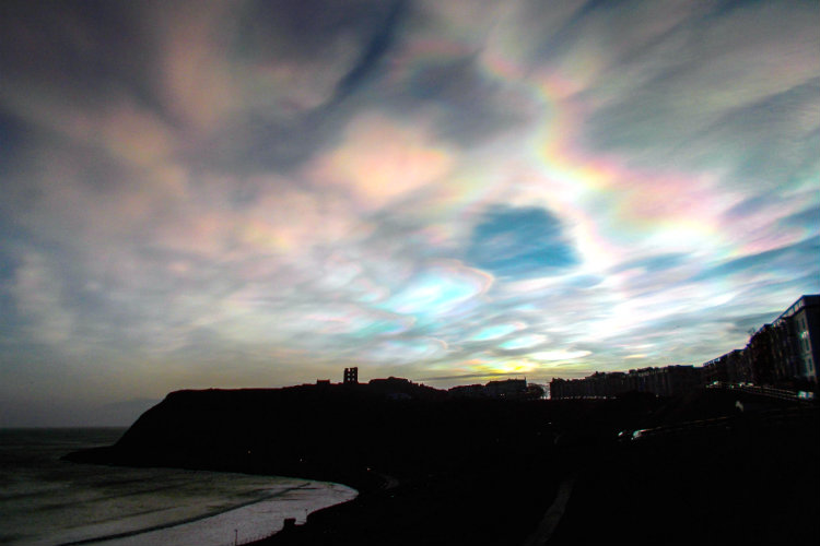 Nacreous Clouds Over Scarborough © 2016 Derek Mason