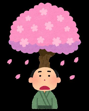 あたま山のイラスト(落語)