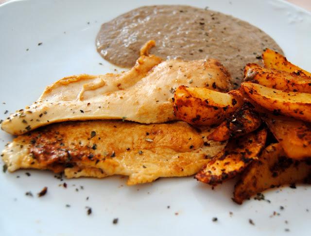 Filetes a la Plancha con Salsa de Foie Gras y Patatas Cajún. Receta