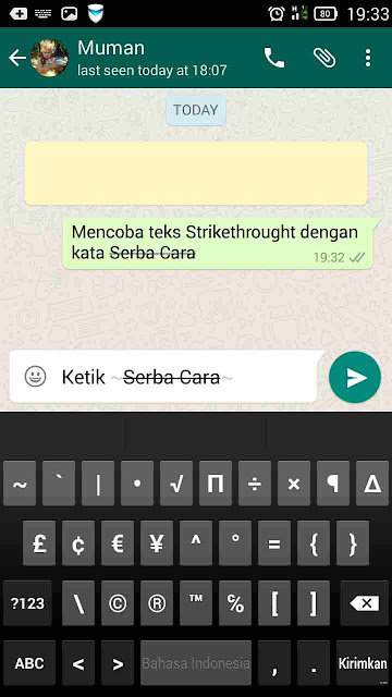 Teks Coret WhatsApp