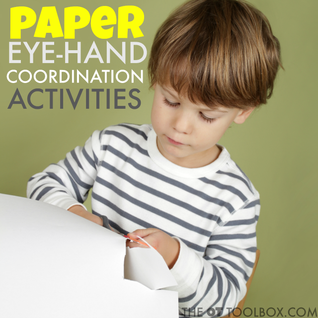 Paper eye-hand coordination activities for kids