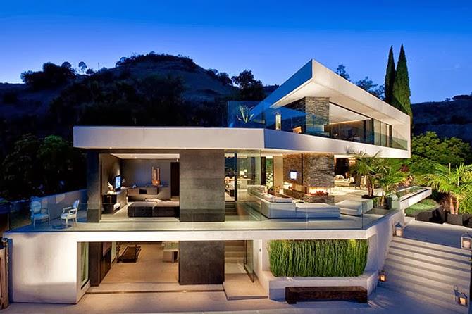 Openhouse una villa moderna e minimalista tra le colline for Foto di ville moderne