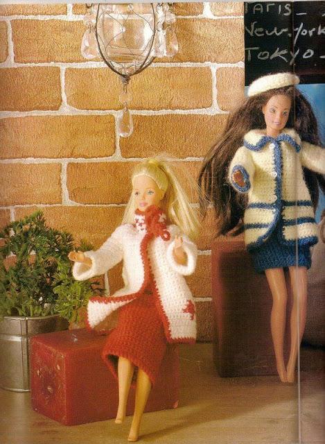 tailleurs pour barbie au crochet