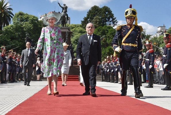 Queen Margrethe, President Mauricio Marci and First Lady Juliana Awada