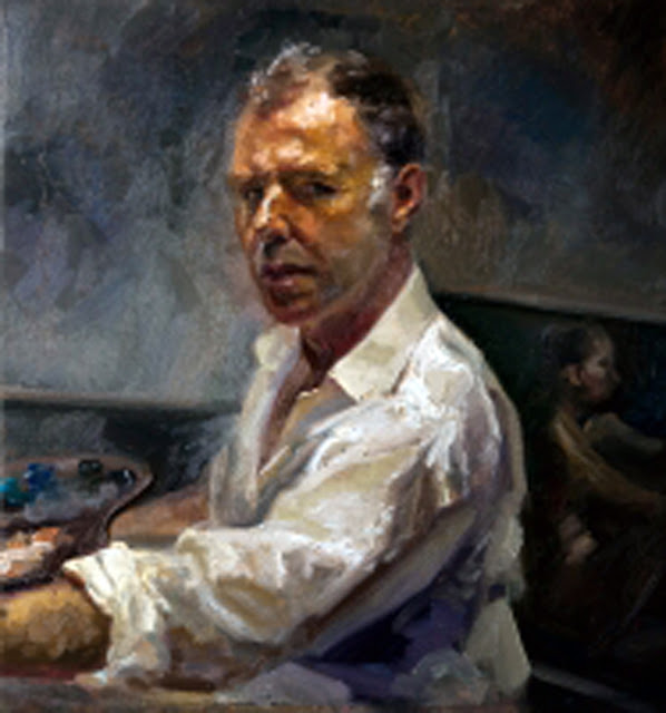 Paco Carvajal, Self Portrait, Portraits of Painters, Fine arts, Portraits of painters blog, Paintings of Paco Carvajal, Painter Paco Carvajal