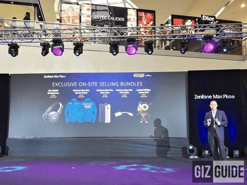 Exclusive on-site bundle of the ZenFone Max Plus M1