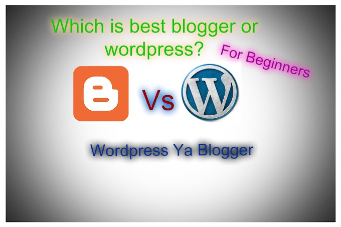 Which is best WordPress or Blogger for beginners?