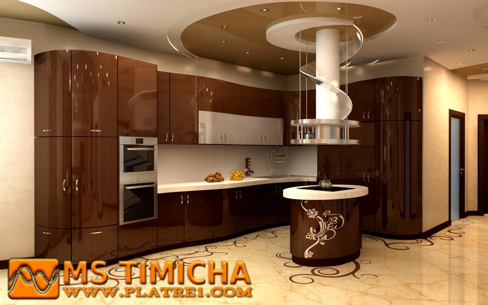 decoration de la cuisine platre ms timicha d coration pl tre plafond. Black Bedroom Furniture Sets. Home Design Ideas