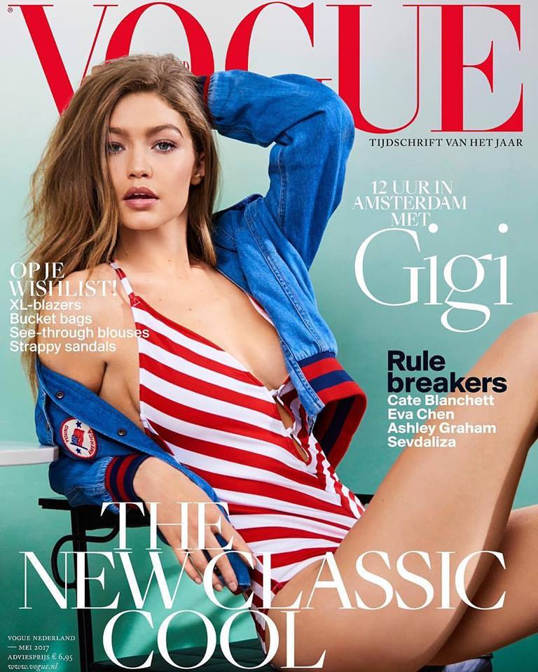 Gigi Hadid bares pert bottom for Vogue Netherlands May 2017