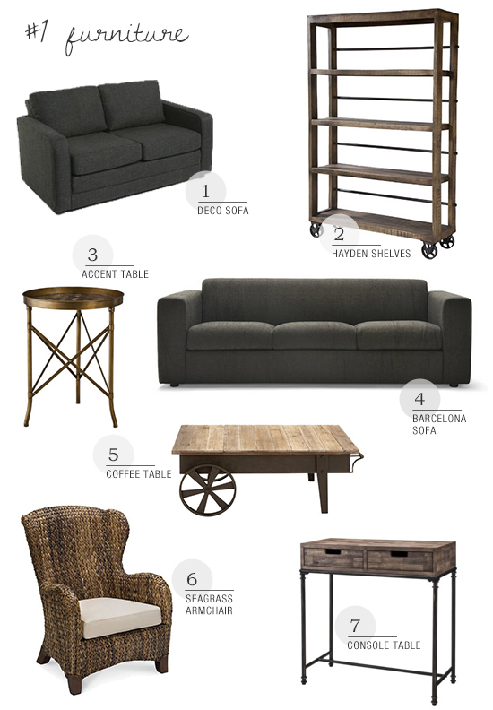 Shop furniture collection for a casual loft style