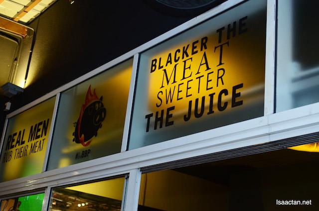 """Blacker the meat, sweeter the juice"""