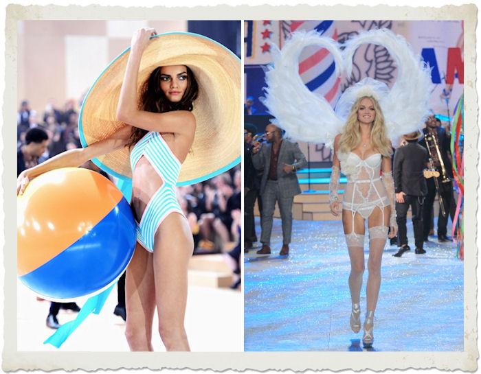 Barbara Fialho e Erin Heatheron durante il Victoria's Secret Fashion Show 2012