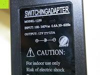 Info auf Netzteil: LIHAO 5M LED Strip Warmweiß 600 SMDs Band wasserdicht Streifen mit Hohlbuchse+Netzteil DC 12V Trafo Set [Energieklasse A]