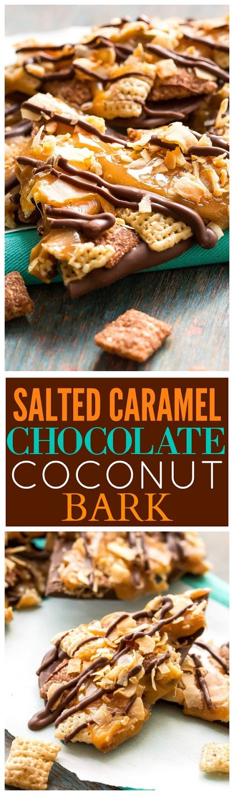Salted Caramel Chocolate Coconut Bark