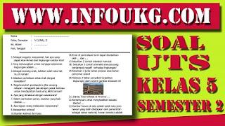 Download Soal UTS Kelas 5 Semester 2 Kurikulum 2013 Hasil Revisi 2017