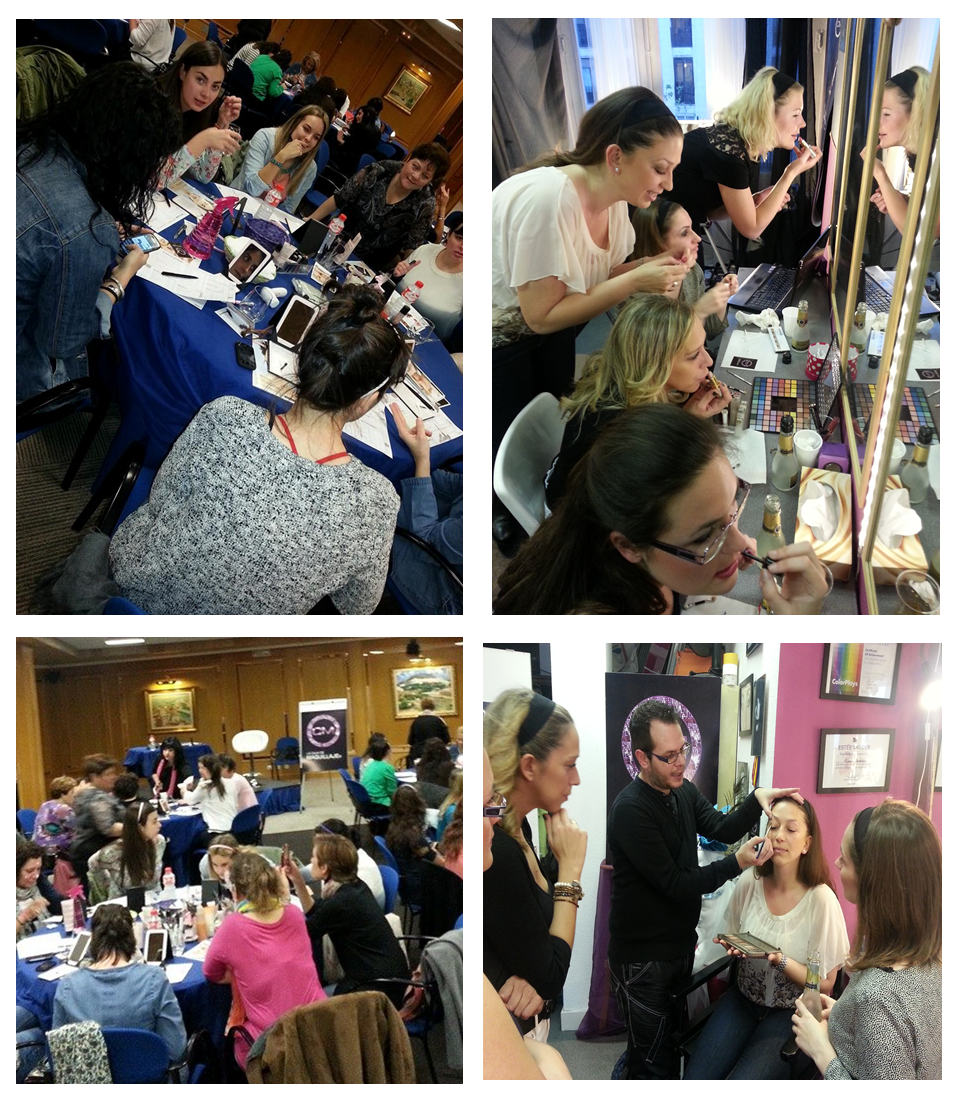 maquilladores y estilistas.