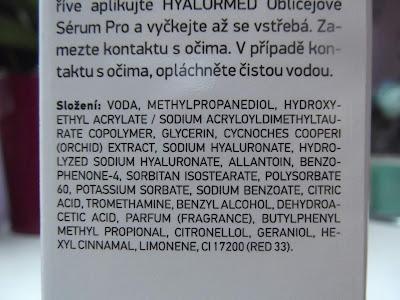 HYALURMED Face serum PRO zloženie