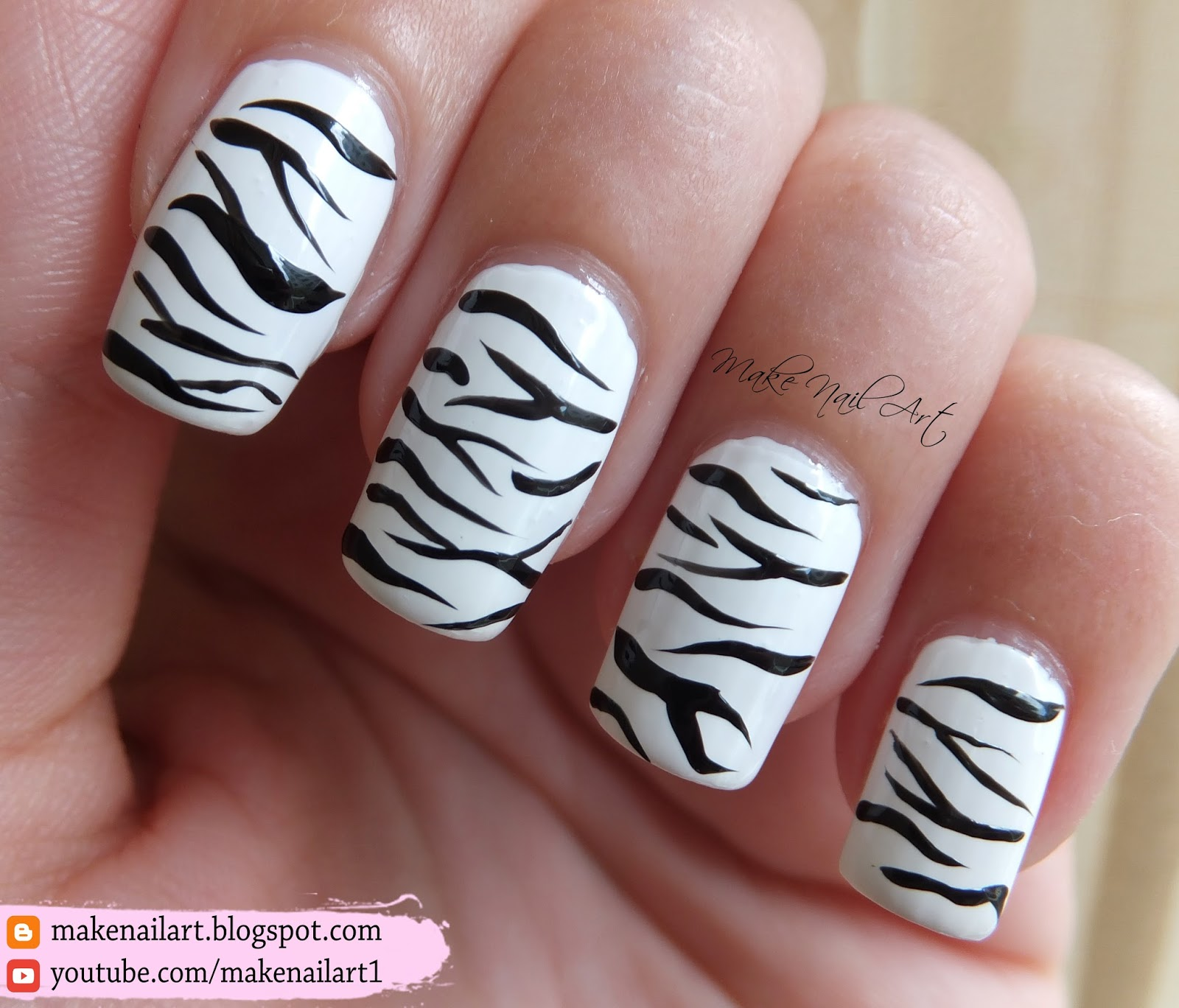 Make Nail Art White Bengal Tiger Print Nail Art Design 31dc2016