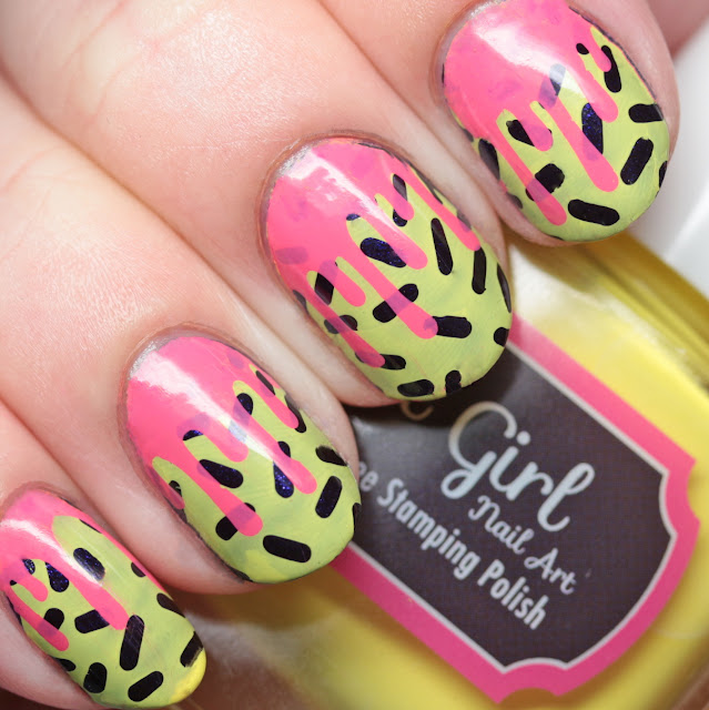 It Girl Nail Art Mini Stamping Plate LE 101 Sugar Rush