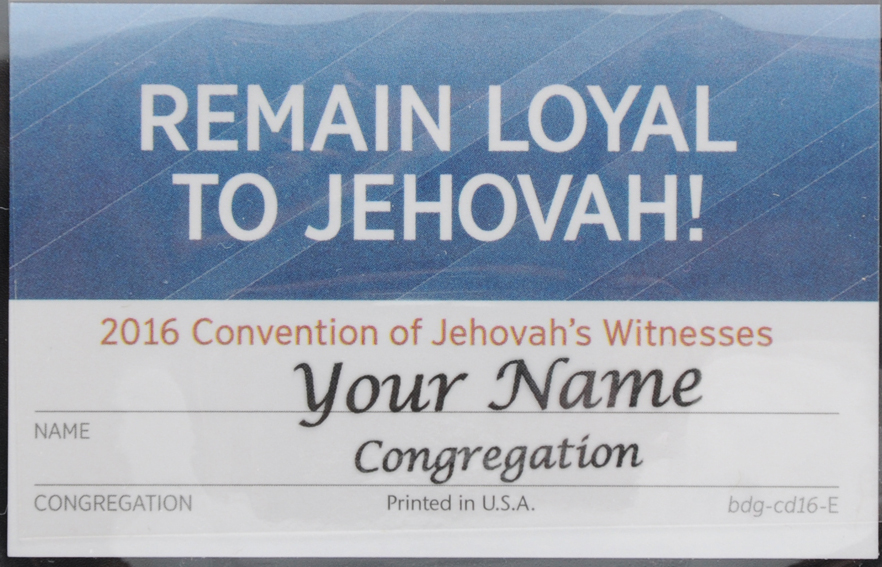 2016 Regional Convention Badge (Lapel Card), Invitation and Theme