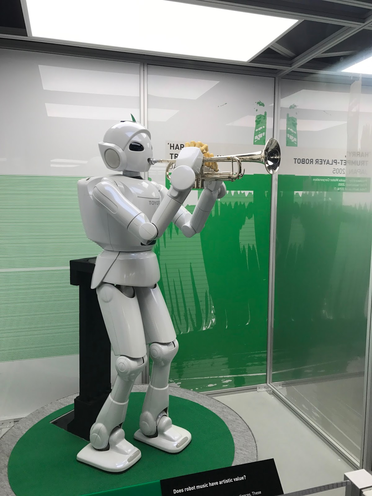 Toyota's trumpet playing robot