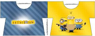 Tarjeta con forma de camisa de Película de los Minions