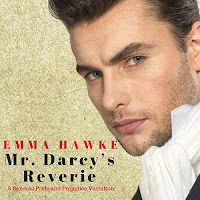 Mr. Darcy's Reverie: A Sensual Pride and Prejudice Variation audiobook cover. A close-up view of a handsome man's face in a high regency ruffled collar and cravat.