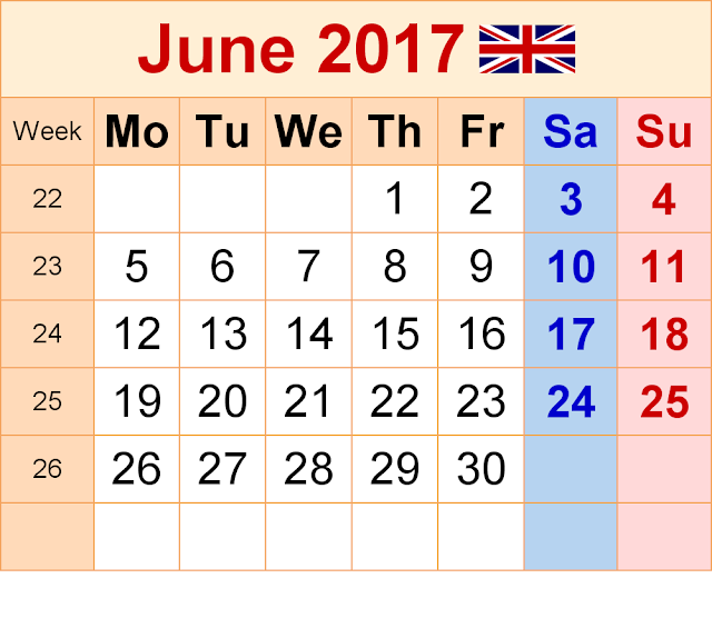 June 2017 Calendar, June Calendar 2017, June 2017 Printable Calendar, June 2017 Calendar Printable, June 2017 Calendar Template