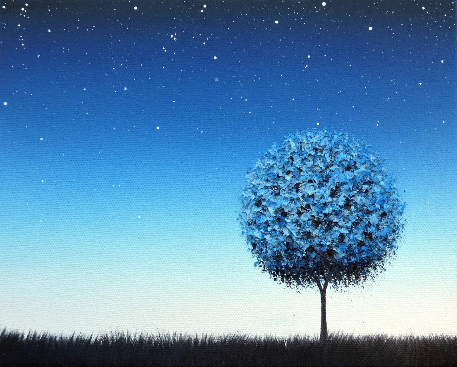 Night Painting Tree