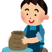 陶芸のイラスト(男性)