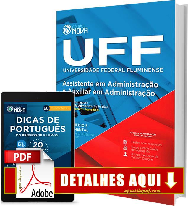 Apostila UFF 2016 Assistente em Administração Impressa
