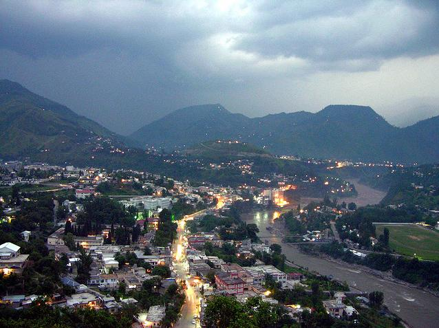 Fall Evening Wallpapers Muzaffarabad City And River Jhelum Wallpapers And Pictures