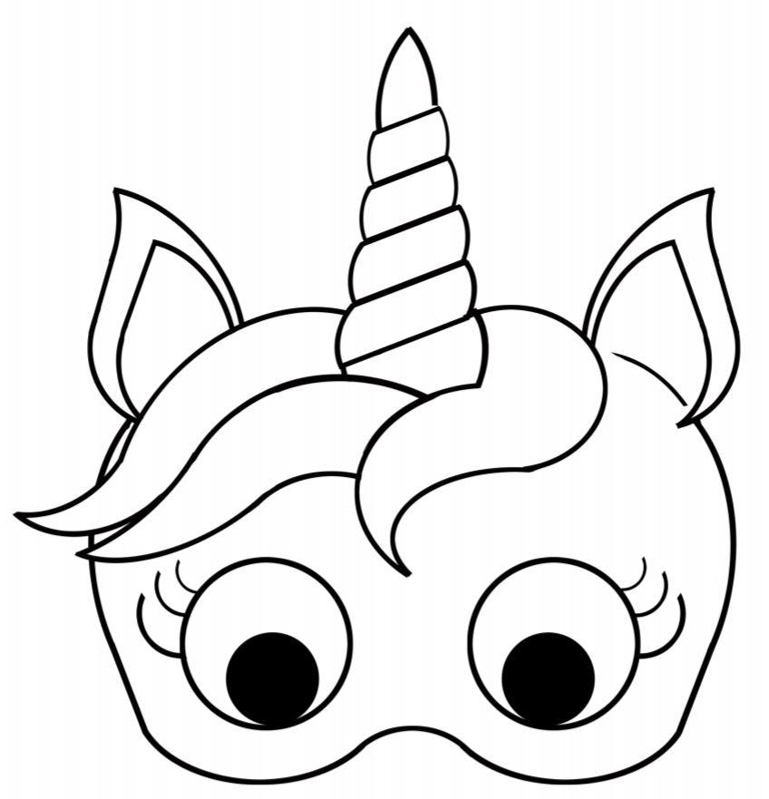 Plantilla de m scara de unicornio para imprimir gratis Majestic animals coloring book