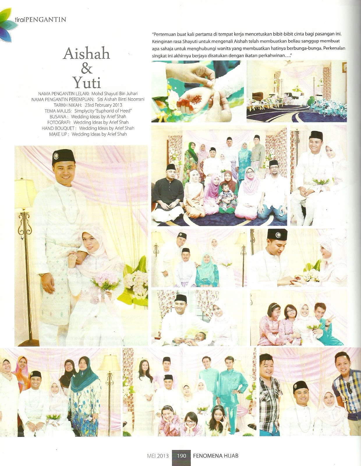 wedding ideas by arief shah wedding ideas paparan di majalah stailista isu mei 2013 28074