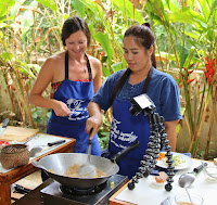 Thai Cooking Class Making Pad Thai in Thailand