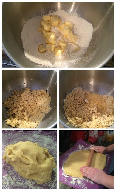 photographs of the steps for Making the Pastry
