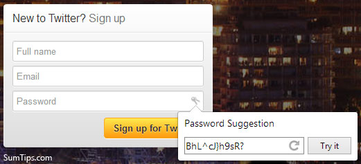Google Chrome Password Generator