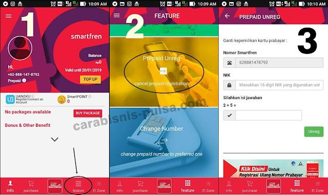 Cara Unreg Kartu Sim Smartfren melalui aplikasi MySmartfren