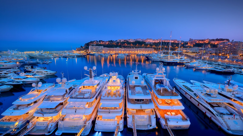 Yachts in Port Hercule from Monaco HD