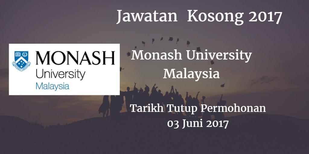 Jawatan Kosong Monash University Malaysia 03 Juni 2017