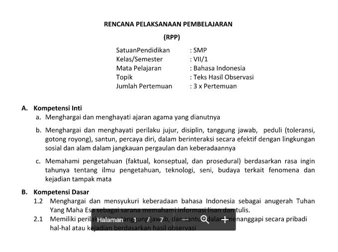 Download RPP Silabus  Kelas 9  Kurikulum 2013