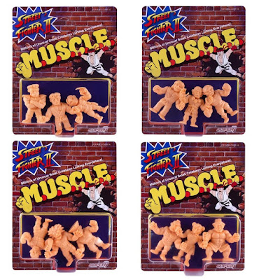 Street Fighter II M.U.S.C.L.E. Rubber Mini Figures by Super7