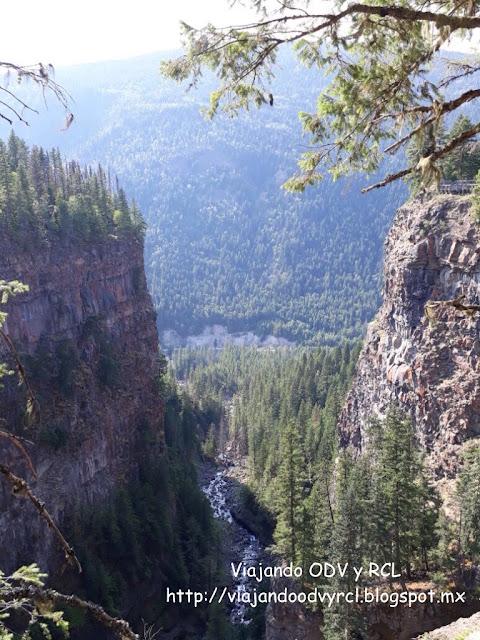 Spahats canyon, Wells Gray Provincial Park. Canada. Viajando ODV y RCL  http://viajandoodvyrcl.blogspot.mx