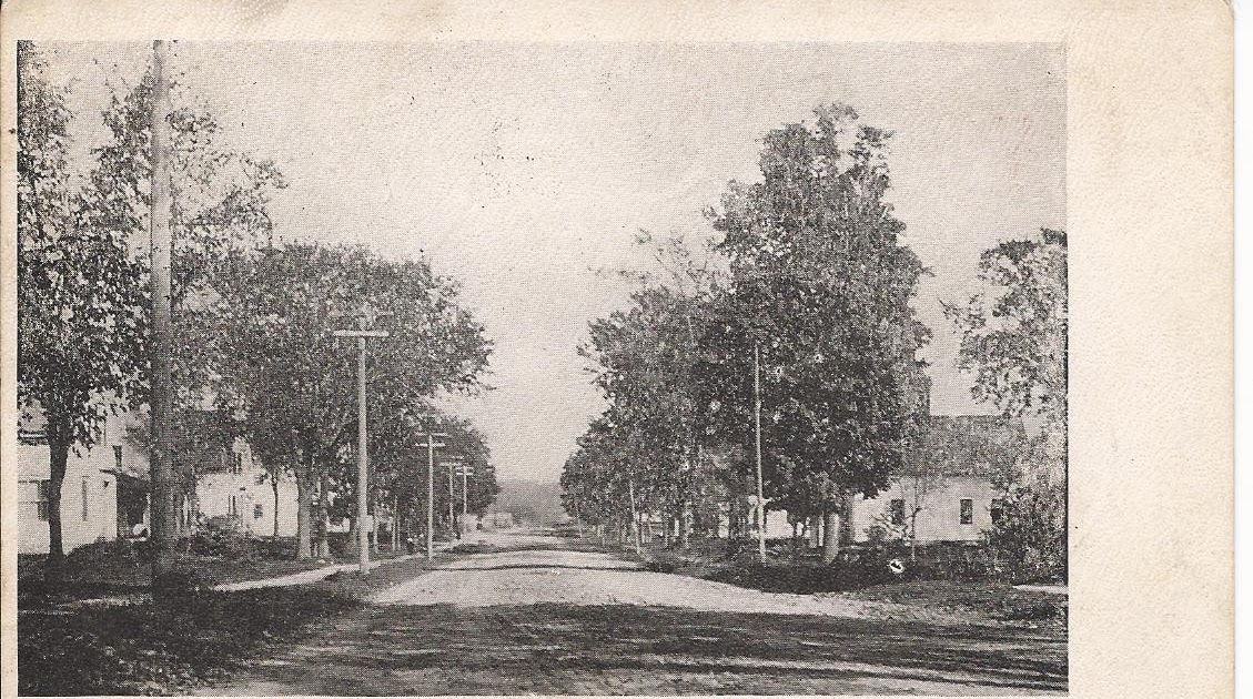 Lincoln Of Troy >> Heirlooms Reunited: 1905 Postcard of Academy Street at Hartland, Maine