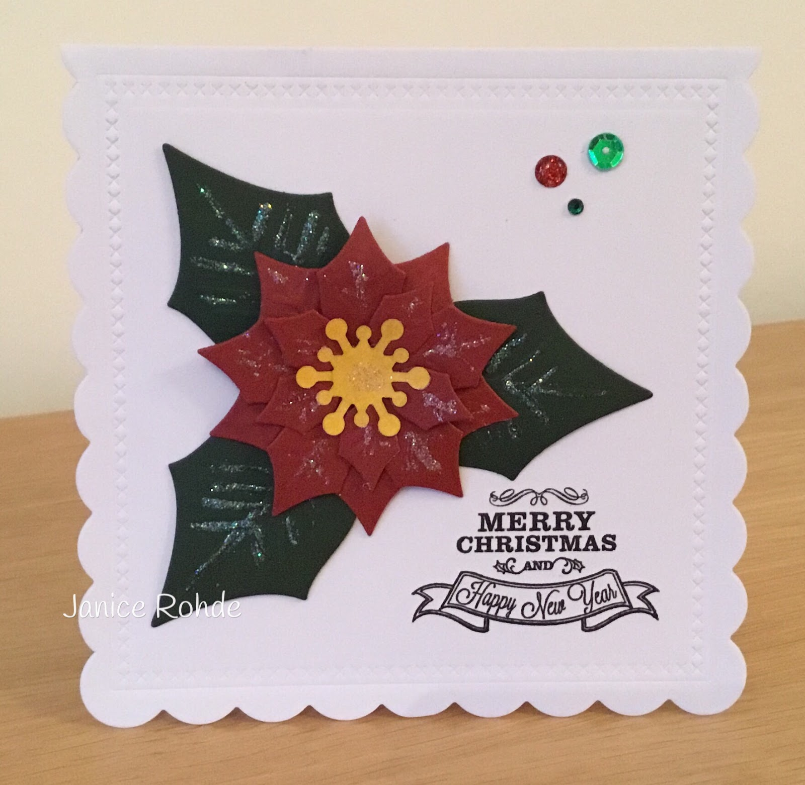 My Craft Room Makes: A \'Clean and Simple\' Christmas Card...