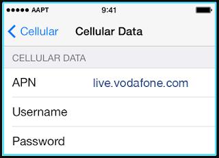 New AAPT apn settings iPhone