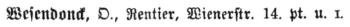 Dresdener Adresse Otto Wesendonck 1880