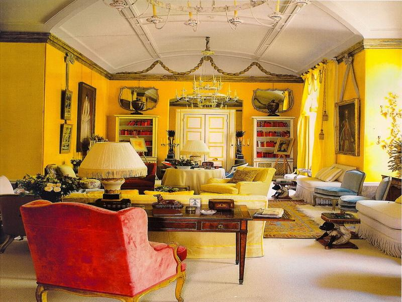 Astonishing Yellow Living Room with Beautiful Inspiration ...