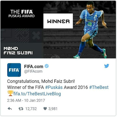 The winner Of Fifa Puskas 2016