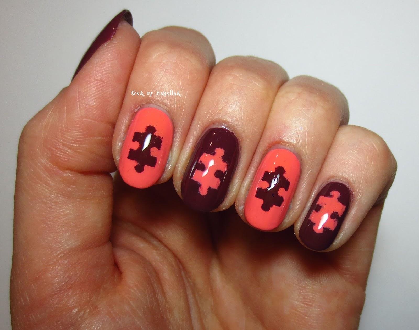 Gek Op Nagellak Puzzel Nail Art